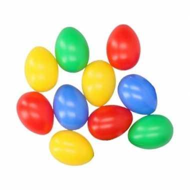 10 plastic paaseieren in leuke kleuren