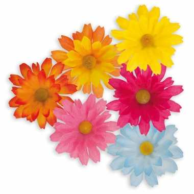 100x stuks paas decoratie madeliefjes bloemen