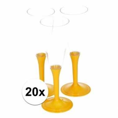 20x gele drankglazen