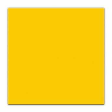 25x gele servetjes 33 x 33 cm decoratie/decoratie