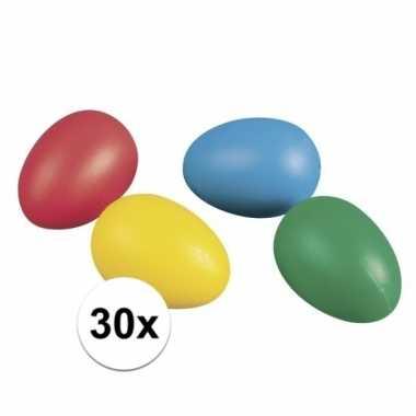 30 plastic paaseieren in leuke kleuren