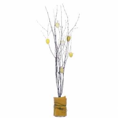 3x bosjes bruine paastakken 75 cm berkentakken/kunsttakken