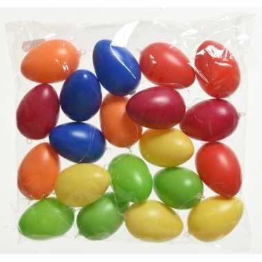 40x gekleurde plastic/kunststof eieren/paaseieren 6 cm