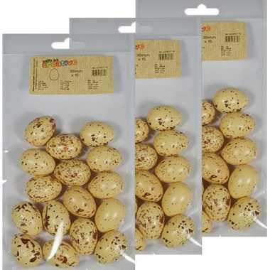 45x beige/bruin gevlekt eitje 4 cm om mee te knutselen