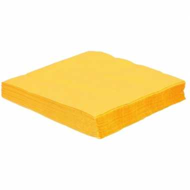 75x gele servetjes 33 x 33 cm decoratie/decoratie