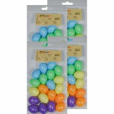80x gekleurde eitjes 4 cm om mee te knutselen