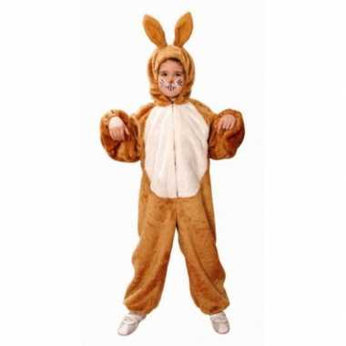 Bruin konijnen pak voor kinderen