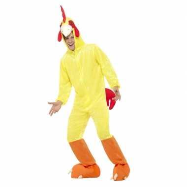 Carnavalskleding kip/haan kostuum geel voor volwassenen