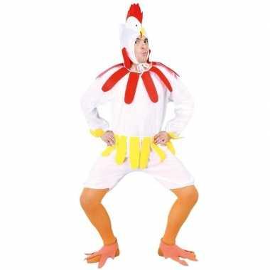Carnavalskostuum wiite kip/haan voor volwassenen