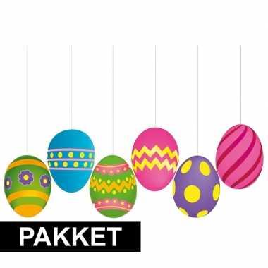 Diy 6 gekleurde eieren decoratie