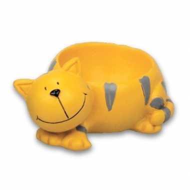 Eierdopje kat/poes geel