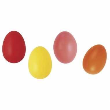 Gekleurde eieren decoratie 6 cm 100 stuks