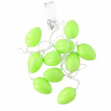 Groene led paaseieren aan snoer