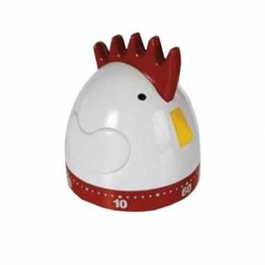 Kookwekker/eierwekker kip/haan 8 cm