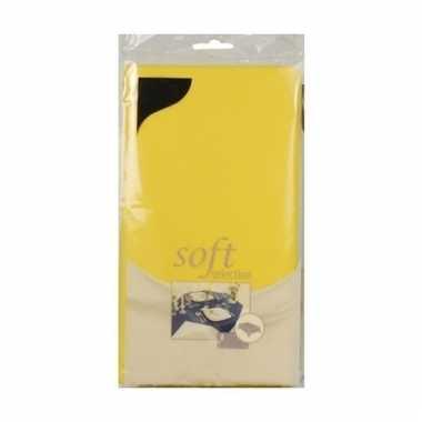 Lente pasen thema geel tafelkleed van stof 140 x 240 cm