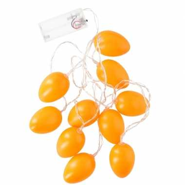 Oranje led paaseieren aan snoer