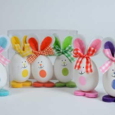 Paas decoratie konijntjes 3 stuks