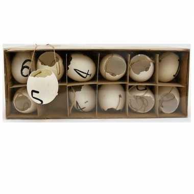 Paas hangdecoratie kippen ei 12 stuks