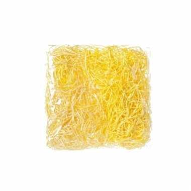 Paasdecoratie geel deco gras 45 gr