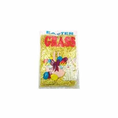 Paasdecoratie geel gras 40 gr