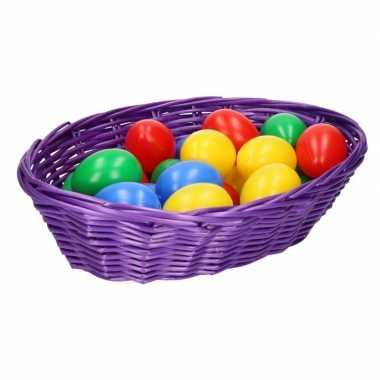 Paasdecoratie mandje met eieren 20 cm 10102447