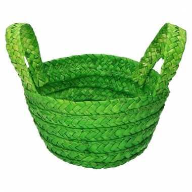 Paasmandje met handvatten groen
