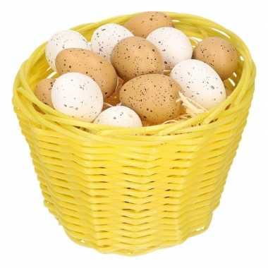 Paasmandje met kwartel eieren 14cm