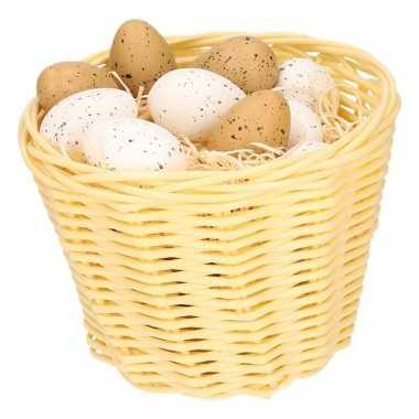 Paasmandje met kwartel eieren 14cm 10104091