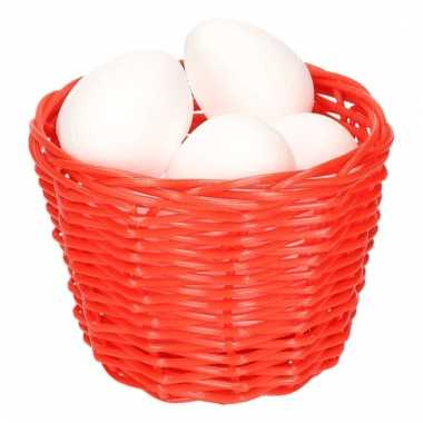 Paasmandje met piepschuim eieren 14cm