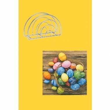 Pasen decoratie voor op tafel geel/gekleurd
