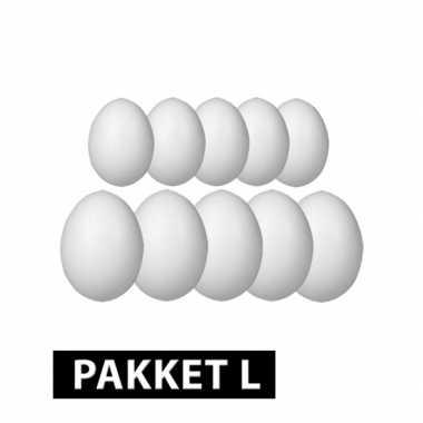 Piepschuim eieren pakket 10x groot formaat