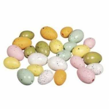 Plastic eieren bont 24 stuks