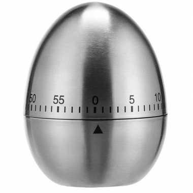 Rvs kookwekker / eierwekker in ei vorm 7,5 cm