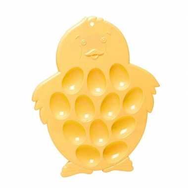 Serveerschaal / eierschaal kuiken voor 12 eieren