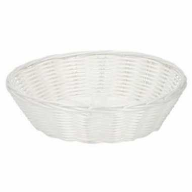 Wit plastic mandje 25 cm