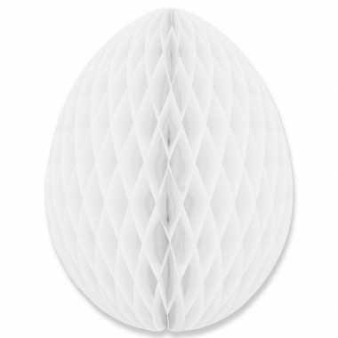 Witte decoratie paasei 30 cm brandvertragend