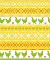 20x pasen thema feest servetjes 33 x 33 cm kip print geel oranje groen