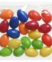 60x gekleurde plastic kunststof eieren paaseieren 6 cm