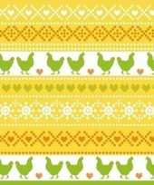 60x pasen thema feest servetjes 33 x 33 cm kip print geel oranje groen