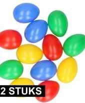 72x plastic paaseieren in leuke kleuren