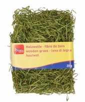 Groen kleur houtwol 20 gram vulmateriaal vulling