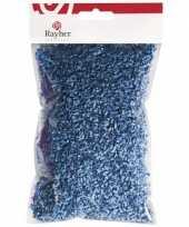 Paasdecoratie blauw gras 50 gr