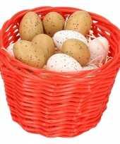 Paasmandje met kwartel eieren 14cm 10104093