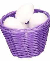 Paasmandje met piepschuim eieren 14cm 10103951