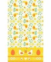 Pasen thema tafelkleed geel oranje 138 x 220 cm